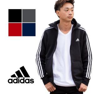 【adidas アディダス】M ESSENTIALS 3STRIPES 3ストライプス フルジップパーカー BUN16|jeansstation