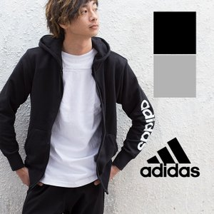 【メーカー希望小売価格より20%OFF♪】【adidas アディダス】M ESSENTIALS アームプリントスウェットジップパーカ BVC48|jeansstation