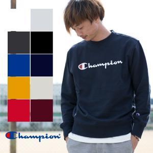 【 Champion チャンピオン 】BASIC ロゴ プリント クルーネック スウェット C3-H004|jeansstation