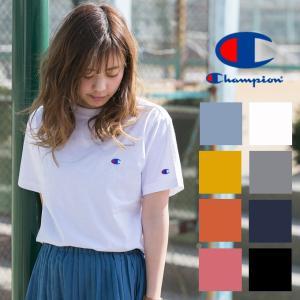 【Champion チャンピオン】 ワンポイント ロゴ 刺繍 ベーシック Tシャツ C3-H359|jeansstation
