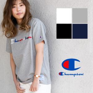 【Champion チャンピオン】ACTION STYLE 筆記体 ロゴ 刺繍 S/S Tシャツ C3-H371|jeansstation