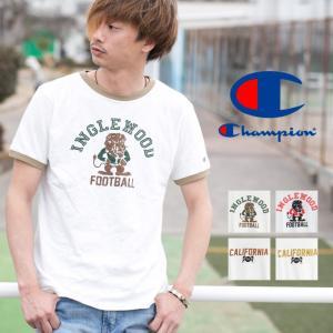 【Champion チャンピオン】アメカジ プリント リンガー Tシャツ C3-K313|jeansstation