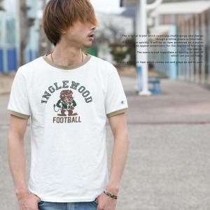 【Champion チャンピオン】アメカジ プリント リンガー Tシャツ C3-K313 jeansstation 02