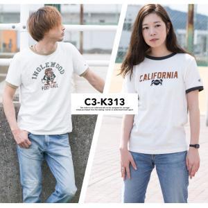 【Champion チャンピオン】アメカジ プリント リンガー Tシャツ C3-K313 jeansstation 04