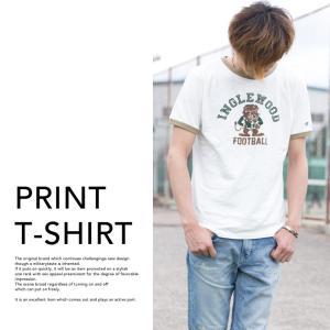 【Champion チャンピオン】アメカジ プリント リンガー Tシャツ C3-K313 jeansstation 05