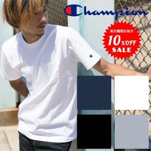 【Champion チャンピオン】ベーシック ポケットTシャツ C3-K340|jeansstation
