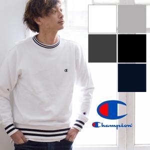 【 Champion チャンピオン 】リブラインクルーネックスウェット C3-L022|jeansstation