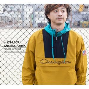 【 Champion チャンピオン 】ロゴアノラックパーカ C3-L609 jeansstation 02