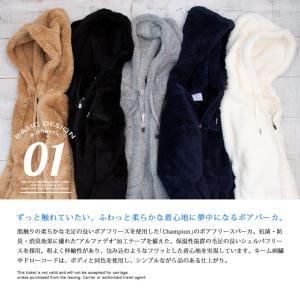 【 Champion チャンピオン 】ボアフリースフルジップパーカ C3-L615|jeansstation|02