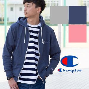 【Champion チャンピオン】ライトカットジップパーカ C3-M104|jeansstation