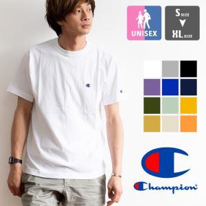 【Champion チャンピオン】ワンポイントロゴ 刺繍 ベーシック 半袖Tシャツ C3-P300|jeansstation