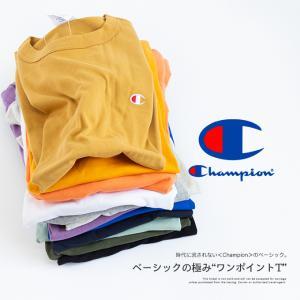 【Champion チャンピオン】ワンポイントロゴ 刺繍 ベーシック 半袖Tシャツ C3-P300|jeansstation|02