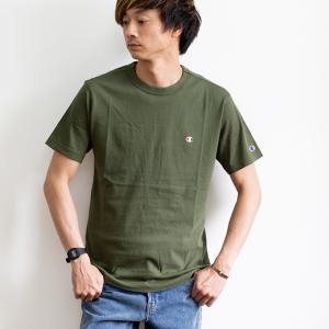 【Champion チャンピオン】ワンポイントロゴ 刺繍 ベーシック 半袖Tシャツ C3-P300|jeansstation|05