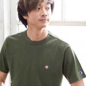 【Champion チャンピオン】ワンポイントロゴ 刺繍 ベーシック 半袖Tシャツ C3-P300|jeansstation|06