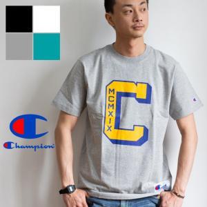 【SALE!!】【Champion チャンピオン】ACTION STYLE ビッグロゴプリントS/S Tシャツ C3-P311|jeansstation