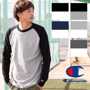 【Champion チャンピオン】ラグランロングスリーブTシャツ C3-P402|jeansstation