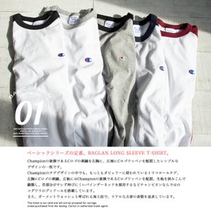 【Champion チャンピオン】ラグランロングスリーブTシャツ C3-P402|jeansstation|02