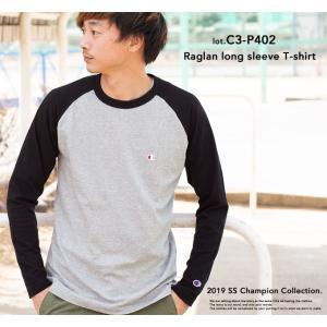 【Champion チャンピオン】ラグランロングスリーブTシャツ C3-P402|jeansstation|03