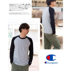 【Champion チャンピオン】ラグランロングスリーブTシャツ C3-P402|jeansstation|04
