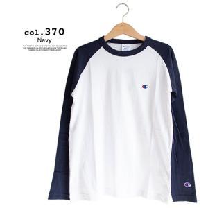 【Champion チャンピオン】ラグランロングスリーブTシャツ C3-P402|jeansstation|07