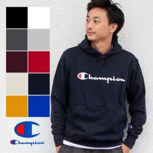 【SALE!!】【 Champion チャンピオン 】 筆記体ロゴ ベーシック プルオーパーパーカー C3-Q102|jeansstation