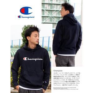【SALE!!】【 Champion チャンピオン 】 筆記体ロゴ ベーシック プルオーパーパーカー C3-Q102|jeansstation|04