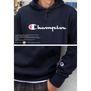 【SALE!!】【 Champion チャンピオン 】 筆記体ロゴ ベーシック プルオーパーパーカー C3-Q102|jeansstation|05