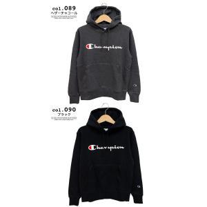 【SALE!!】【 Champion チャンピオン 】 筆記体ロゴ ベーシック プルオーパーパーカー C3-Q102|jeansstation|08