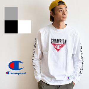 【 Champion チャンピオン 】 MCMXIX L/S T-SHIRT アームロゴ 長袖Tシャツ C3-Q408|jeansstation