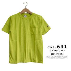 【CHAMPION チャンピオン】T1011 ポケット付 ヘビーウエイト クルーネック Tシャツ C5-B303 C5-M304 C5-P305|jeansstation|13