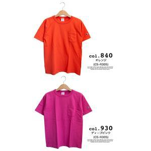 【CHAMPION チャンピオン】T1011 ポケット付 ヘビーウエイト クルーネック Tシャツ C5-B303 C5-M304 C5-P305|jeansstation|16