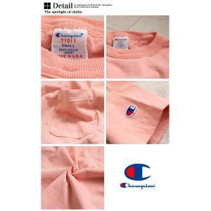 【CHAMPION チャンピオン】T1011 ポケット付 ヘビーウエイト クルーネック Tシャツ C5-B303 C5-M304 C5-P305|jeansstation|17