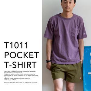 【CHAMPION チャンピオン】T1011 ポケット付 ヘビーウエイト クルーネック Tシャツ C5-B303 C5-M304 C5-P305|jeansstation|04