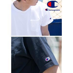 【CHAMPION チャンピオン】T1011 ポケット付 ヘビーウエイト クルーネック Tシャツ C5-B303 C5-M304 C5-P305|jeansstation|07