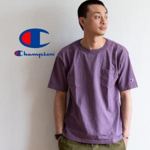 【CHAMPION チャンピオン】T1011 ポケット付 ヘビーウエイト クルーネック Tシャツ C5-B303 C5-M304 C5-P305|jeansstation|08