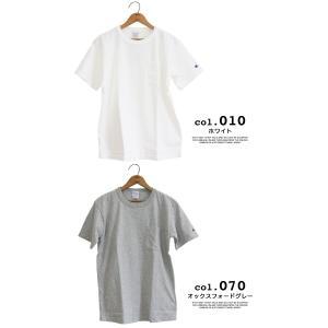 【CHAMPION チャンピオン】T1011 ポケット付 ヘビーウエイト クルーネック Tシャツ C5-B303 C5-M304 C5-P305|jeansstation|09