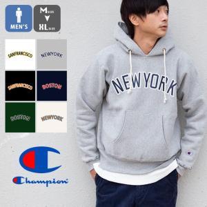 【 Champion チャンピオン 】 リバースウィーブ カレッジ プリント スウェット プル パーカ C5-Q102|jeansstation