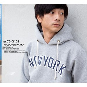 【 Champion チャンピオン 】 リバースウィーブ カレッジ プリント スウェット プル パーカ C5-Q102|jeansstation|02