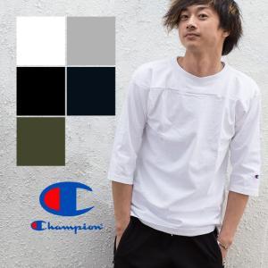 【Champion チャンピオン】T1011 3/4スリーブフットボールTシャツ C5-U403|jeansstation