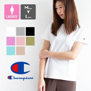 【SALE!!】【Champion チャンピオン】 ウィメンズ ポケット Tシャツ CW-M321