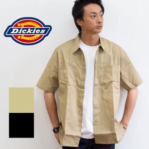 【 Dickies ディッキーズ 】 TCツイル ビッグポケット リラックスフィット 半袖 シャツ DK006252|jeansstation