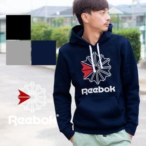 【Reebok リーボック】メンズ CLASSIC F STAR HOODY Starcrestロゴスウェットプルパーカー DRV88 jeansstation