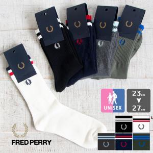 【FRED PERRY フレッドペリー】TIPPED RIB SHORT SOCKS ティップド リ...