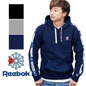 【Reebok リーボック】CLASSIC 袖プリント スウェットプルオーバーパーカー FRZ49 jeansstation