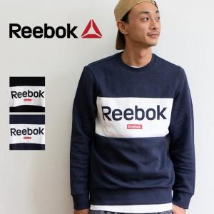 【 Reebok リーボック 】 TE ビッグロゴ クルー グラフィック スウェット GIB78 jeansstation