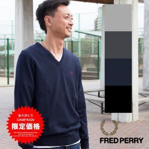 【FRED PERRY フレッドペリー】 クラシック Vネック セーター K7210|jeansstation