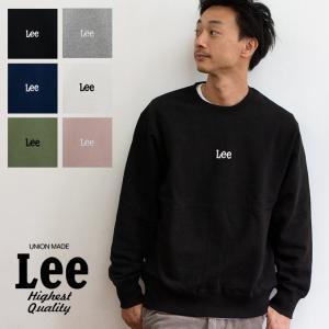 【 Lee リー 】ミニロゴ刺繍 クルーネックスウェット LT2402|jeansstation
