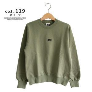 【 Lee リー 】ミニロゴ刺繍 クルーネックスウェット LT2402|jeansstation|11