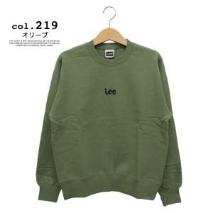 【 Lee リー 】ミニロゴ刺繍 クルーネックスウェット LT2402|jeansstation|17
