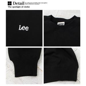 【 Lee リー 】ミニロゴ刺繍 クルーネックスウェット LT2402|jeansstation|19